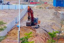 挖掘机施工现场